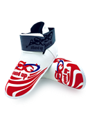 ADF-001 - Stock Design White Foot Pads with RED logo