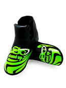 ADF-007 - Stock Design Foot Pads Gray and Lime Green