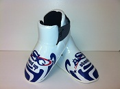 ADF-008 Stock Design White and Blue Footpads