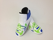 ADF-010 Stock Design Footpads / Neon Green and Blue
