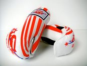 ADG -001 - Stock Design White Gloves with RED Logo