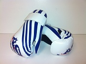 ADG-008 Stock Design White and Blue Gloves