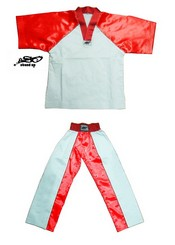 BU-004 - Stock Design Uniform/White and Red