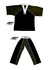 BU-009 - Stock Design Uniform/Black and Black
