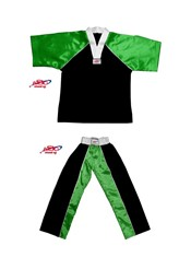 BU-016 Stock Design Uniform/Black and Green with White Trims